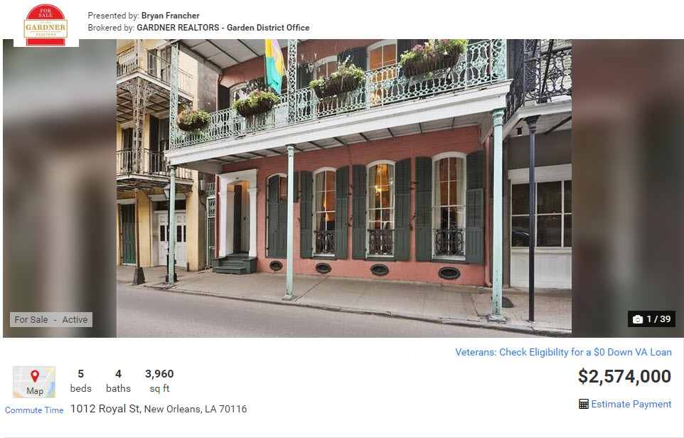 1012 Royal St, New Orleans, LA 70116