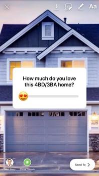 Real Estate Post Ideas-Instagram-Sticker-Emoji-Slider-Stickers-to-See-Likability