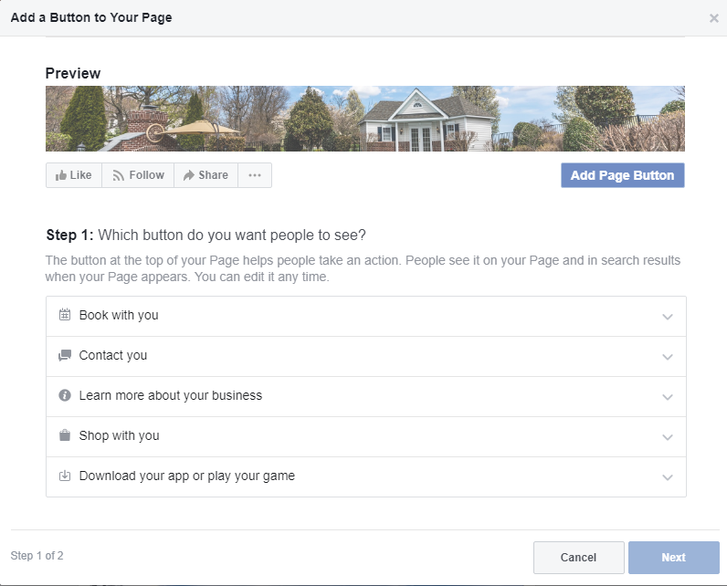 Guide to the Facebook CTA Button 2