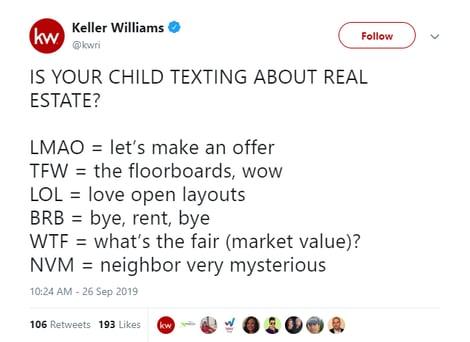 Real Estate Tweet