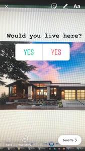 instagram - poll