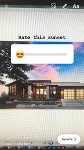 instagram - slider poll