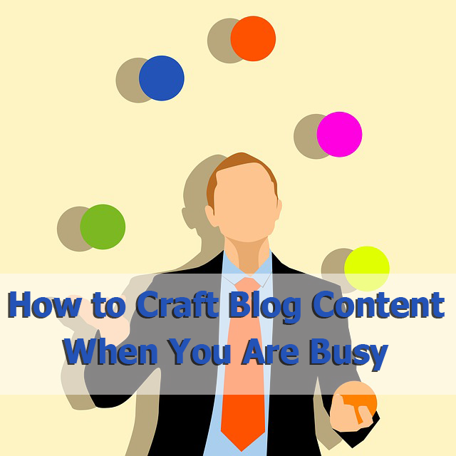 how to create real estate blog content when you are busy